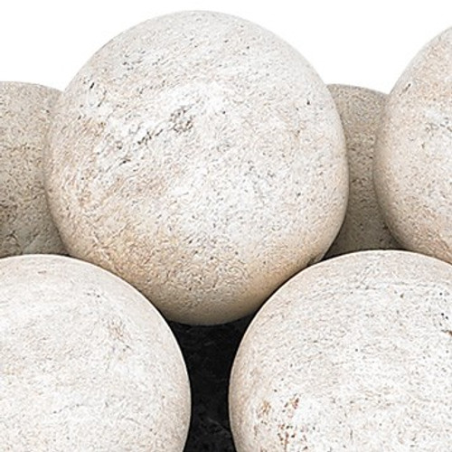 Cottage White Lite Stone Ball Set - Uniform 4""