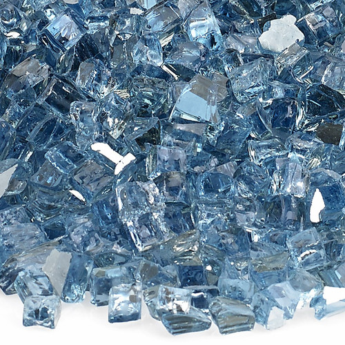 """1/4"""" Pacific Blue Reflective Fire Glass"""