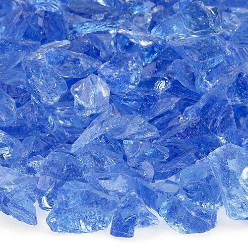 Light Blue Small Fire Pit Glass