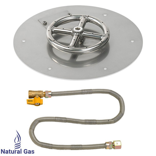 "12"" Round Flat Pan with Match Light Kit (6"" Ring)"