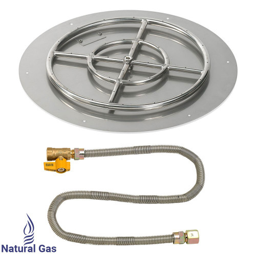 "24"" Round Flat Pan with Match Light Kit (18"" Ring) - Natural Gas"