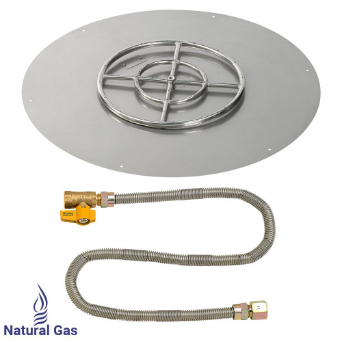 "30"" Round Flat Pan with Match Light Kit (18"" Ring) - Natural Gas"