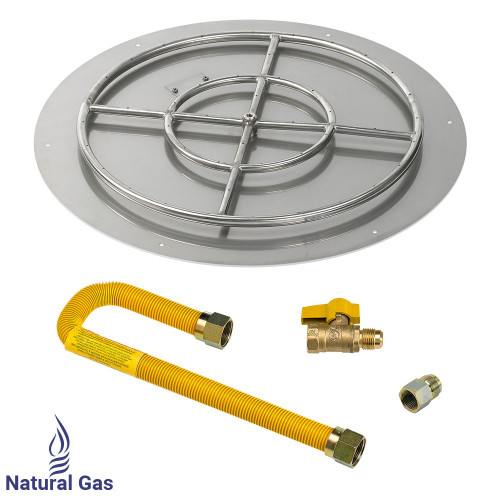 "30"" Round Flat Pan with Match Light Kit (24"" Ring) - Natural Gas"