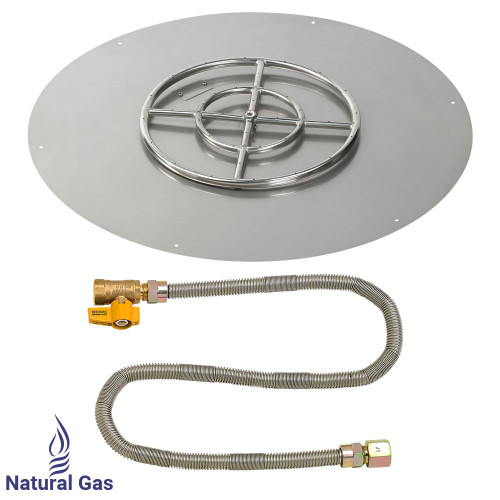 "36"" Round Flat Pan with Match Light Kit (18"" Ring) - Natural Gas"