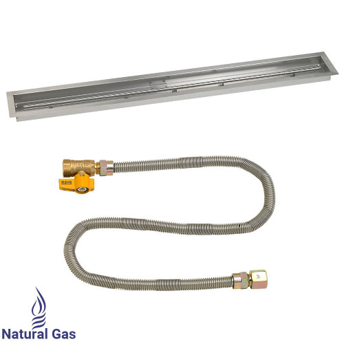 """60""""x 6"""" Linear Drop-In Pan with Match Light Kit - Natural Gas"""