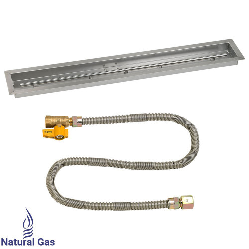 """48""""x 6"""" Linear Drop-In Pan with Match Light Kit - Natural Gas"""