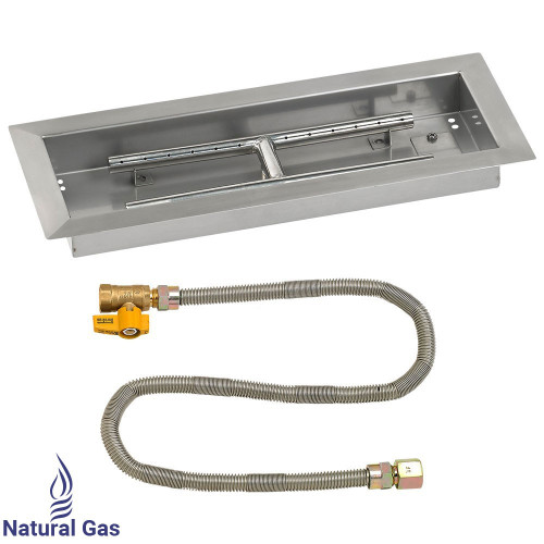 "18"" x 6"" Rectangular Drop-In Pan with Match Light Kit - Natural Gas"
