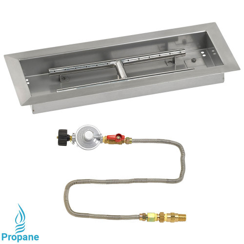 "18"" x 6"" Rectangular Drop-In Pan with Match Light Kit - Propane"