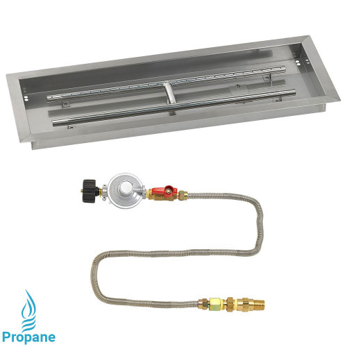 "30"" x 10"" Rectangular Drop-In Pan with Match Light Kit - Propane"