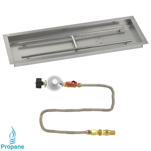 "36"" x 12"" Rectangular Drop-In Pan with Match Light Kit - Propane"