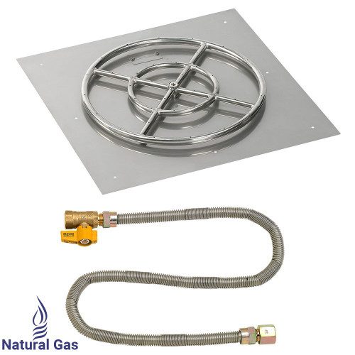 """24"""" Square Flat Pan with Match Light Kit (18"""" Ring) - Natural Gas"""