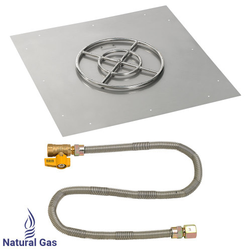 """36"""" Square Flat Pan with Match Light Kit (18"""" Ring) - Natural Gas"""