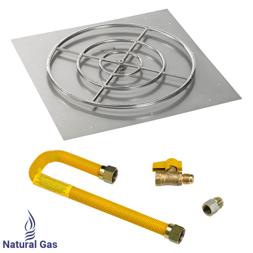 """36"""" Square Flat Pan with Match Light Kit (30"""" Ring) - Natural Gas"""