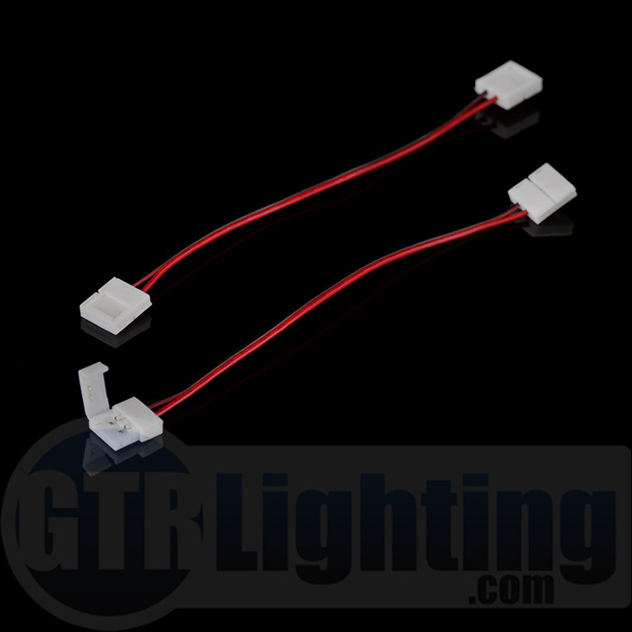 GTR Lighting Quick Clip LED Strip Harness, 2-Pin (For Single Color LED Strips)
