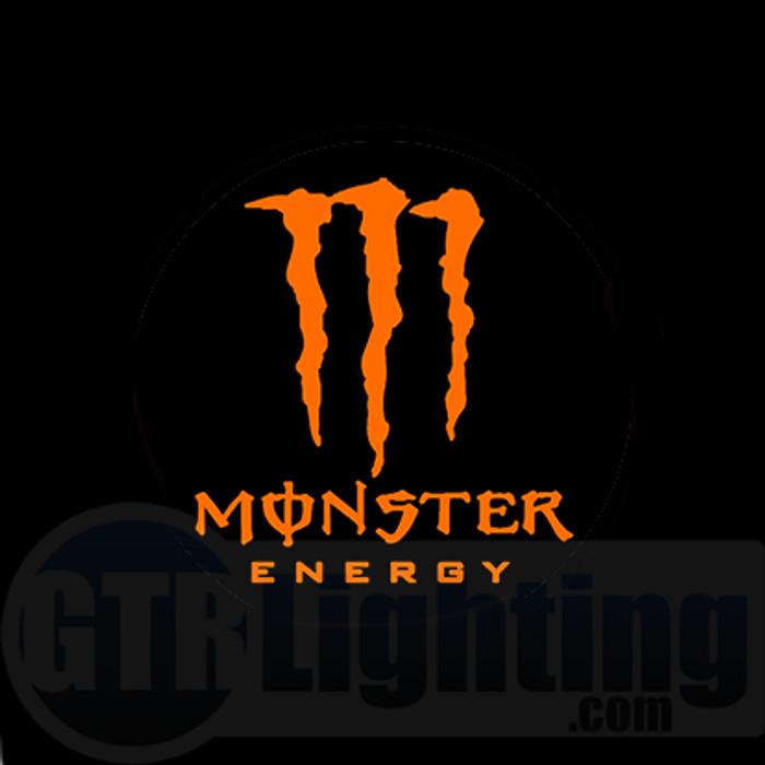 GTR Lighting LED Logo Projectors, Orange Monster Energy Logo, #54