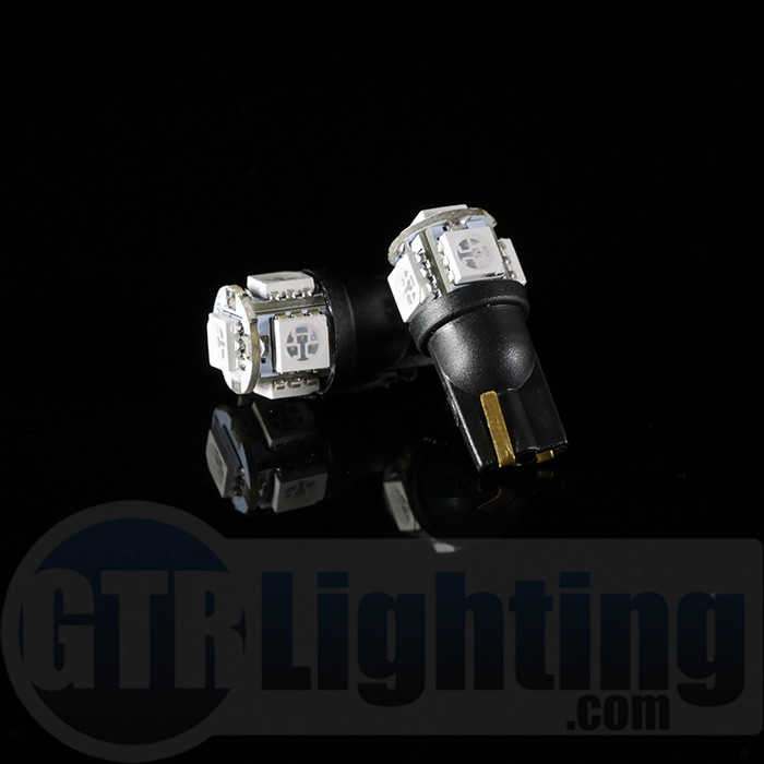 GTR Lighting T10 / 194 / 168 5-LED Bulbs