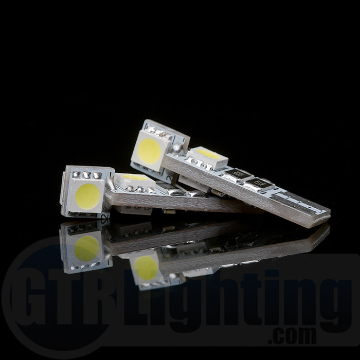 GTR Lighting 4-LED T10 / 194 / 168 CANBUS Style LED Bulbs