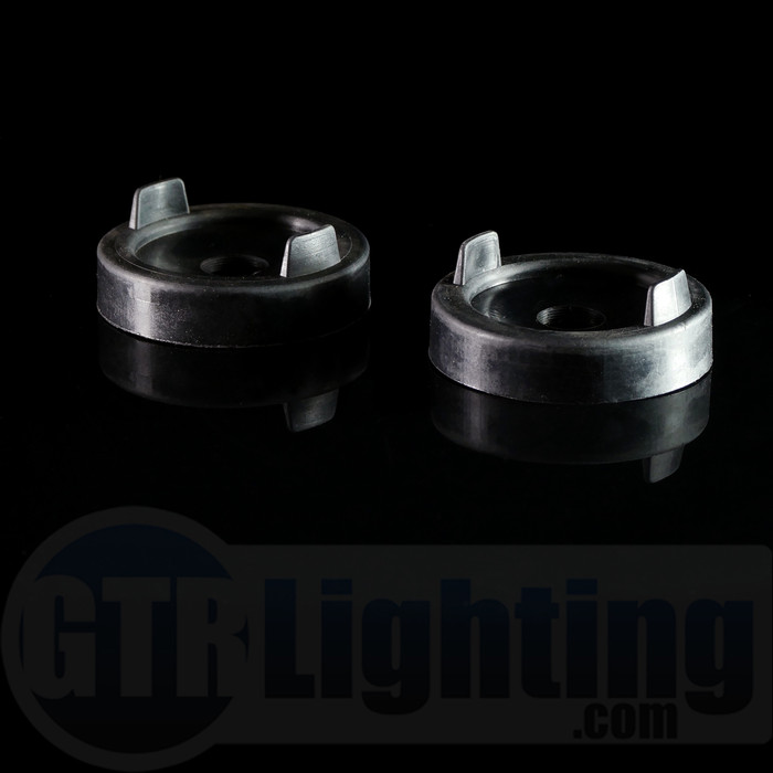 GTR Lighting 88mm Rubber Push-On Style Dust Cover Caps for LED Headlight Bulbs