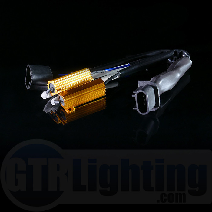 GTR Lighting H13 Style 50W Resistor T-Harness with Capacitor