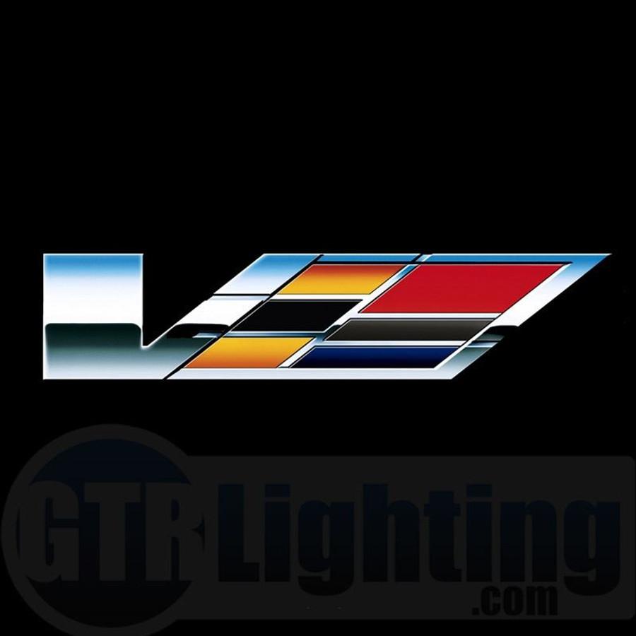 gtr lighting led logo projectors cadillac v logo 55