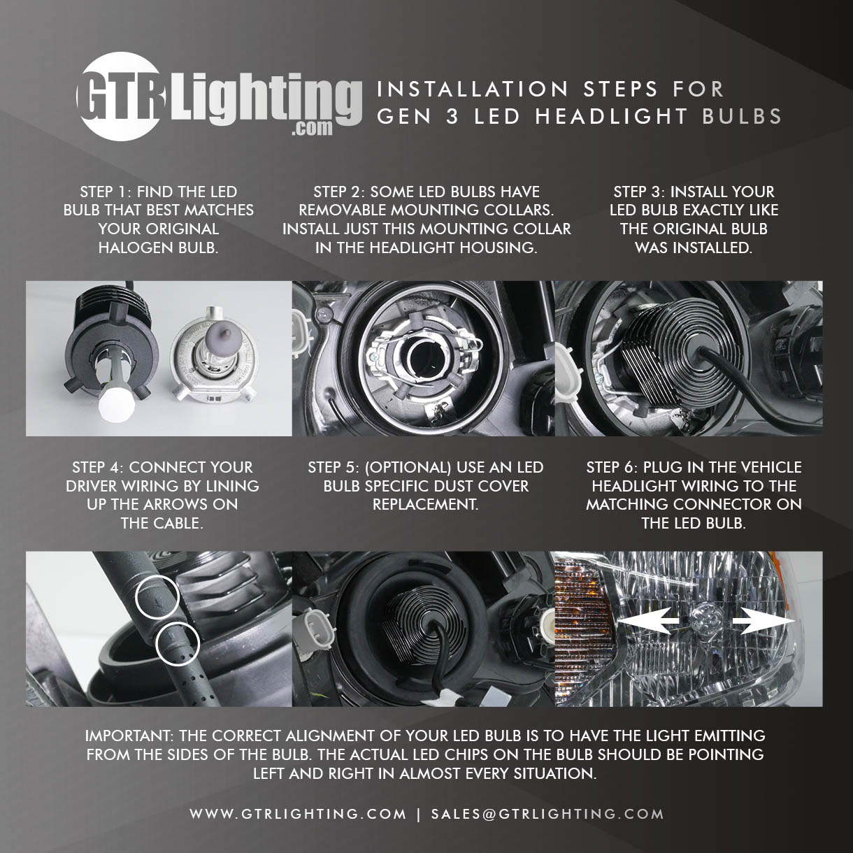 install instructions for the gtr lighting gen 3 ultra h4 bulb wiring h4 headlight bulb wiring diagram