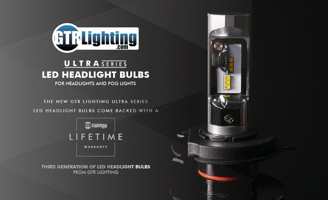GTR Lighting Ultra Series LED Headlight Bulbs 3 rd GEN - Lifetime Warranty