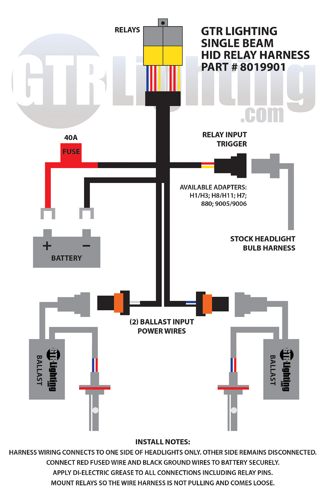 hid light ballast wiring diagram internal detailed schematic diagrams rh 4rmotorsports com