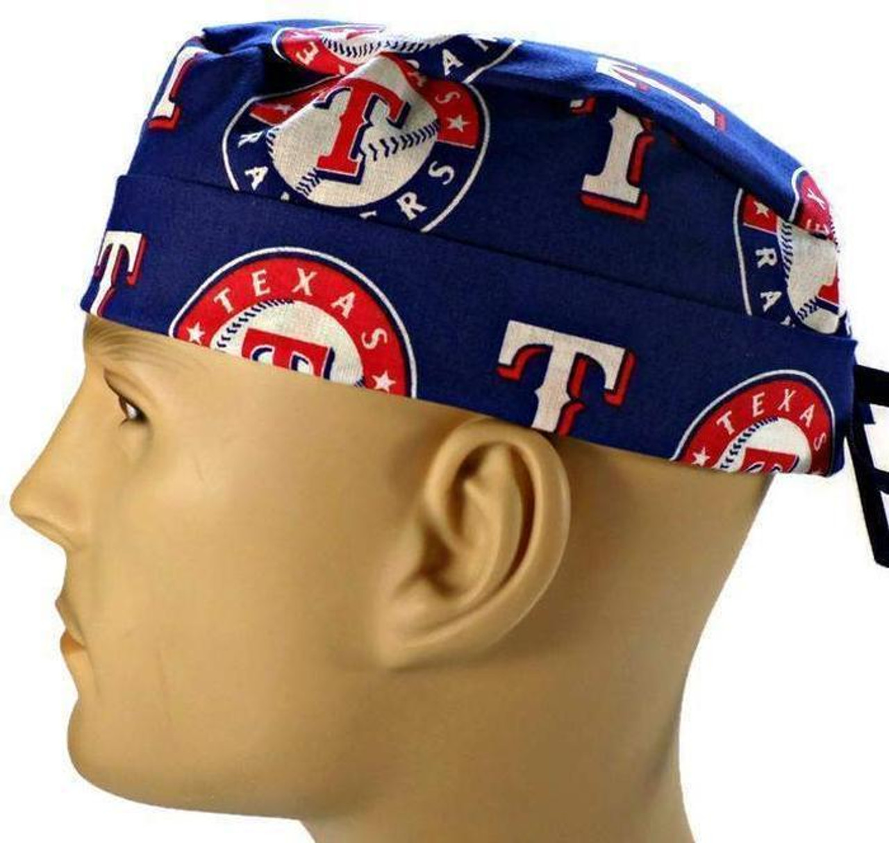 6554afc9c ... aliexpress mens adjustable fold up cuffed or uncuffed surgical scrub  hat cap made with texas rangers