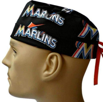 ddf8c853bad ... order mens adjustable fold up cuffed or uncuffed surgical scrub hat cap  made with florida marlins