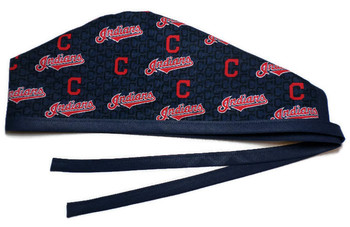 b24d11748 ... usa mens unlined surgical scrub hat cap made with cleveland indians  mini fabric d2391 618c4 ...