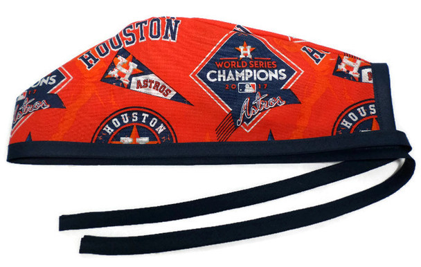 Men's Unlined Surgical Scrub Hat Cap made with Houston Astros Champions fabric