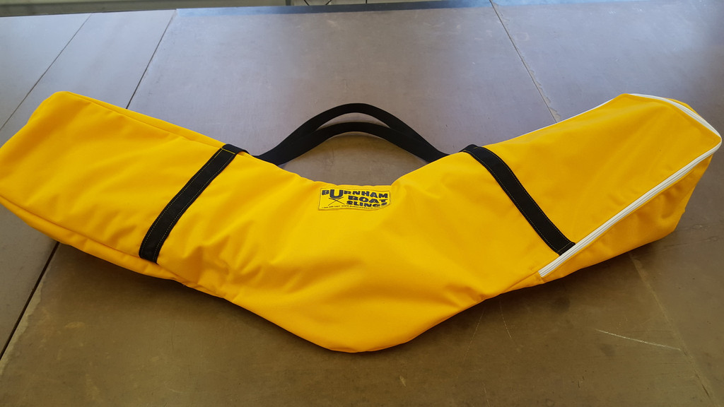 A balanced shoulder bag for easy carrying, and a new clear window for labeling.  These bags are a coach's & boatman's dream!  Each bag hold (2) riggers.