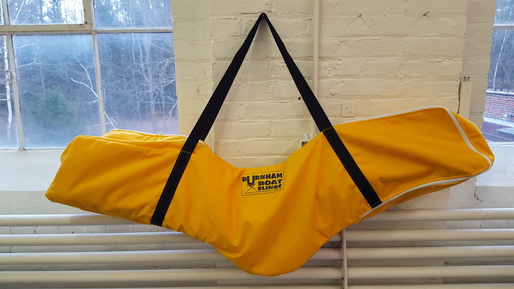 These bags are a coach's & boatman's dream! A balanced shoulder bag for easy carrying, and a new clear window for labeling.  Each bag hold (2) riggers.
