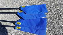 Sweep oar Blade Covers will protect your oars while travelling.  Fully padded Nylon Cordura.  Easy to use Velcro closure.
