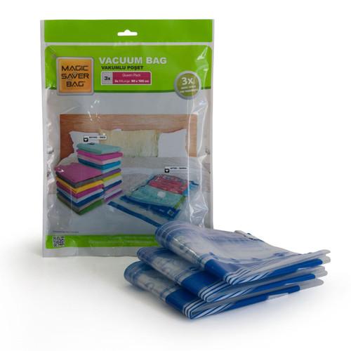 Magic Saver Bag - [3 x XXLarge 80 x 100 cm] Vacuum Storage Bags - Queen Pack