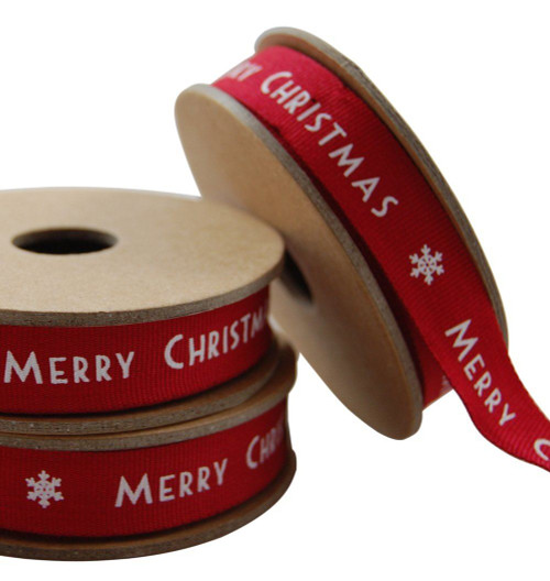 East Of India Merry Christmas Xmas Decoration Gift Pack Designer Ribbon - Red