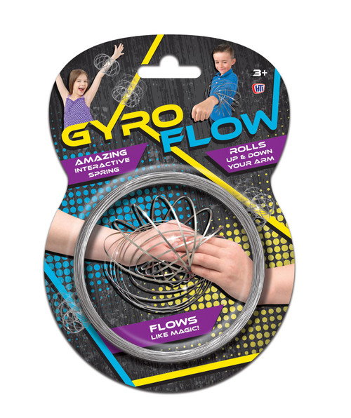 2 X Gyro Flow Kinetic Educational Interactive Spring 3D Shaped Flow Ring Toy for Anxiety & Stress Relief