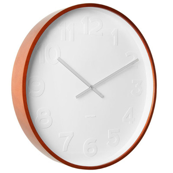 Karlsson Uhr karlsson mr blue wall clock steel large the design gift shop