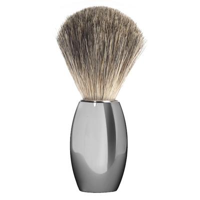 Muehle Shaving Brush M863 - Nickel Handle,  Fine Badger Hair