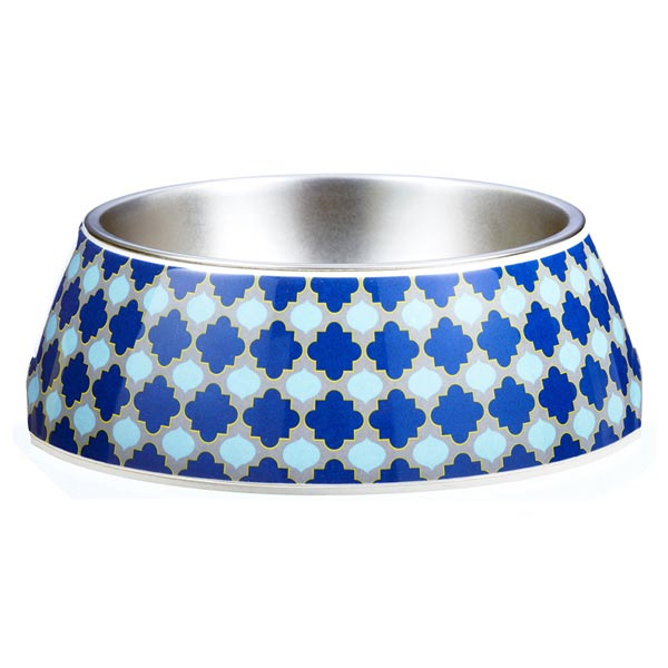 Blue dog bowl Marrakesh