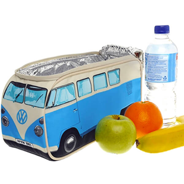 Volkswagen Blue VW Campervan lunch bag with fruit