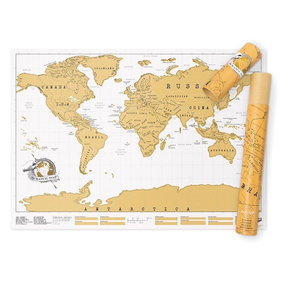 Luckies scratch map world the design gift shop scratch off world map the design gift shop gumiabroncs Image collections