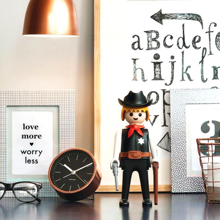 KARLSSON copper alarm clock black dial (deko not included) | The Design Gift Shop
