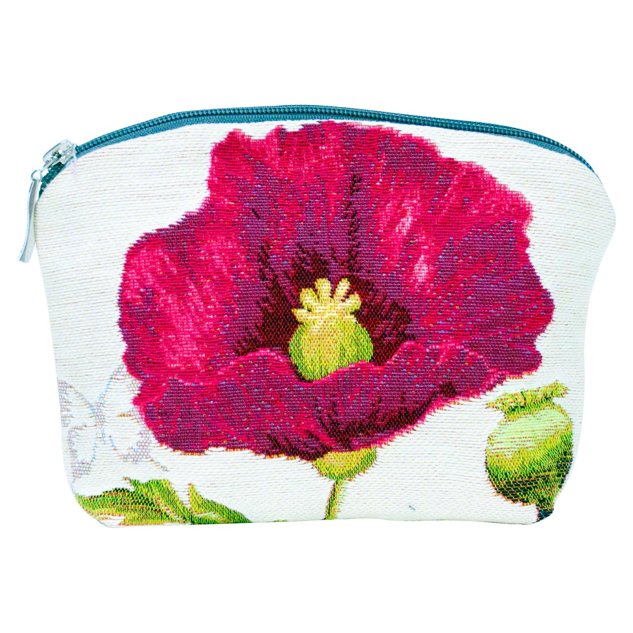 Cosmetic Bag French Tapestry Poppy Front | The Design Gift Shop