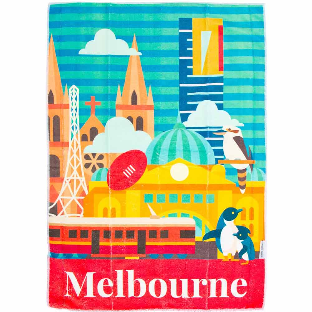 Annabel Trends Tea Towel Melbourne | The Design Gift Shop