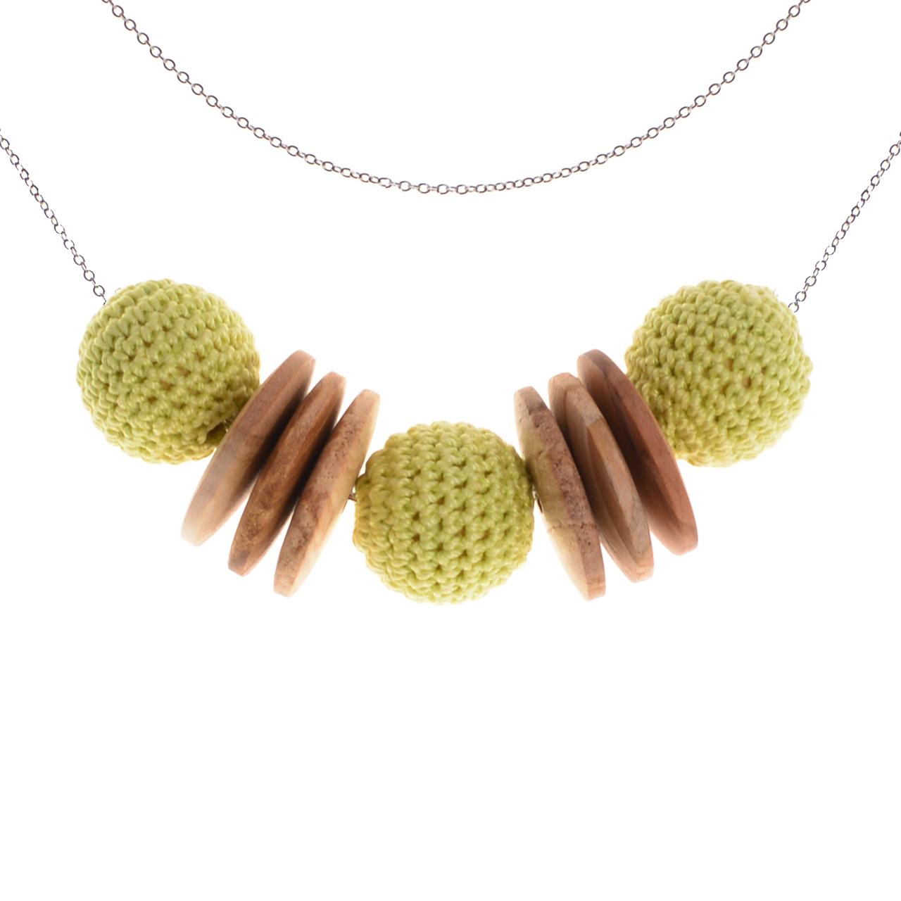 Mon Bijou - Necklace Elegance Nature - Light Green | The Design Gift Shop