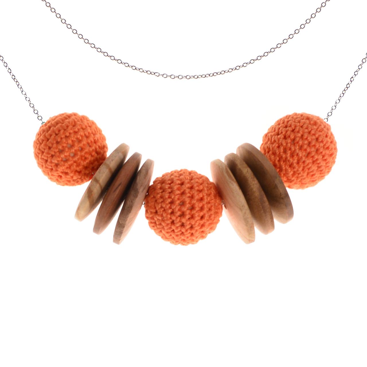 Mon Bijou - Necklace Elegance Nature - Orange | The Design Gift Shop