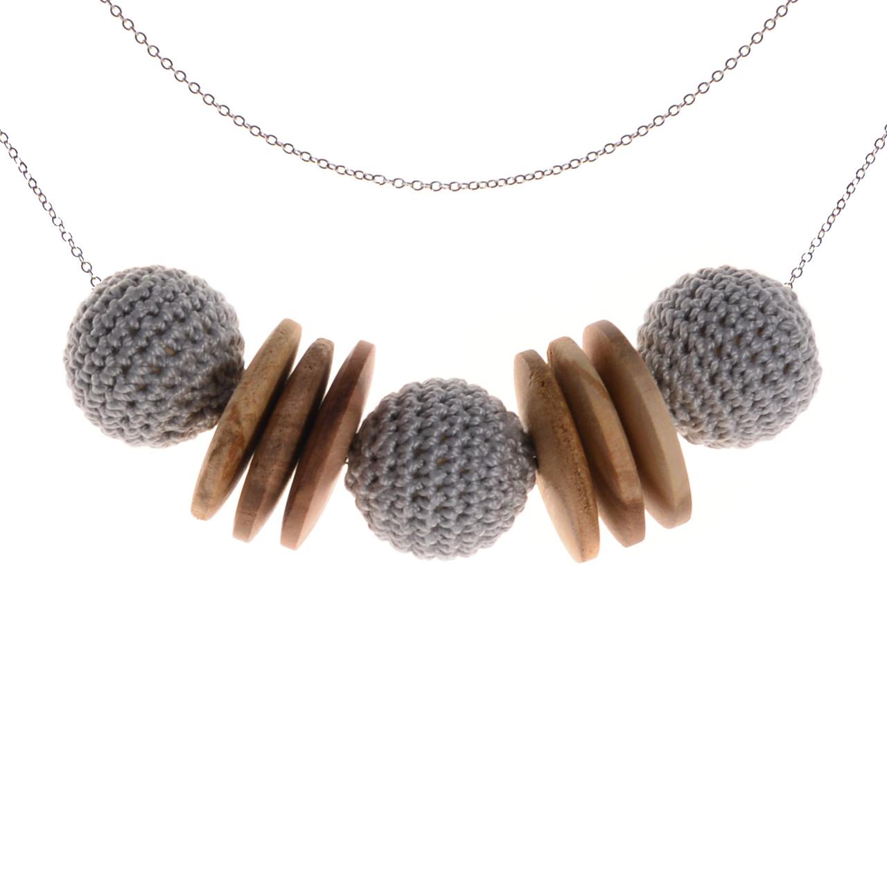 Mon Bijou - Necklace Elegance Nature - Grey | The Design Gift Shop