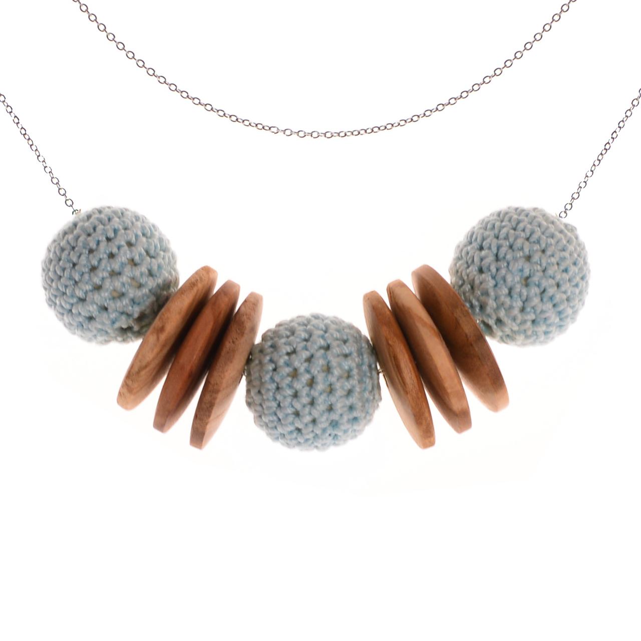 Mon Bijou - Necklace Elegance Nature - Light Grey | The Design Gift Shop
