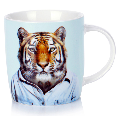 Porcelain Mug Tiger from the Zoo Portraits | The Design Gift Shop